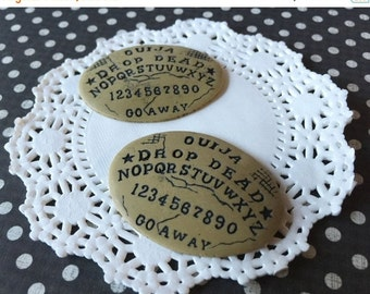 SALE - Ouija Board Cameo - Ouija Board Cabochon - 48mm x 35mm