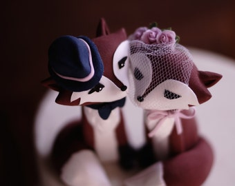 RED FOX Wedding Cake Topper - Warranty Protection Included