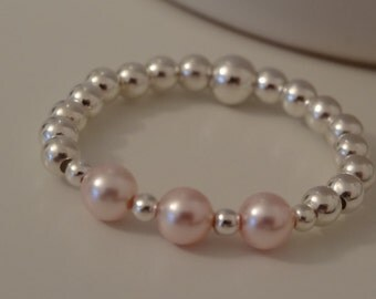 pretty beaded stretch ring all sizes can be made