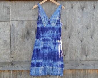 Hand Dyed Slip Tie Dye Soviet Vintage Chemise Underwear 100% Viscose