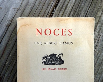 Nuptials by Albert Camus, FRENCH EDITION, Noces, published by NRF Gallimard France, 1966
