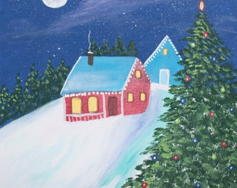 Winter House Night