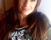Charitable Sale New Made in the USA FTLA Apparel Camo Off the Shoulder Sweatshirt #MakeFurHistory