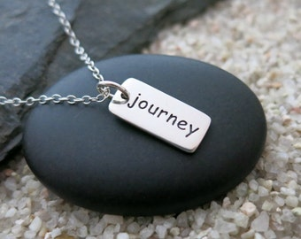 Journey Necklace, Sterling Silver Journey Charm, Graduation Gift, Travel Jewelry