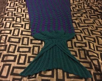 4ft mermaid cocoon blanket