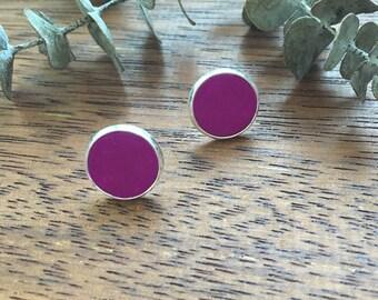 Purple Clay Studs