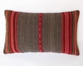 12 x 20 inches, lumbar cushion lead, rustic decor, Peruvian. CR - 109