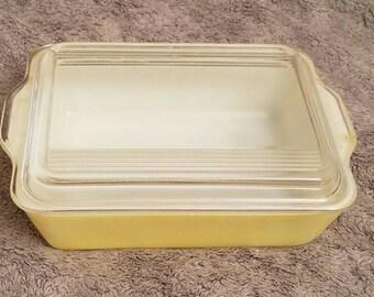 Pyrex Yellow Fridge Dish