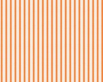 Haunting Stipe orange stripe fabric by Riley Blake designs Happy Haunting collection by Deena Rutter orange stripe halloween fabric