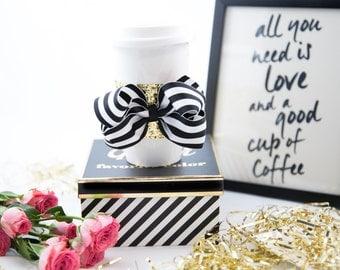 Coffee Sleeve - Glitter Coffee Sleeve - Coffee Lover's Gift - Coffee Cozie - Coffee Cozy - Coffee Wrap - Coffee Travel Accessory