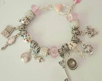 Alice in Wonderland inspired bracelet