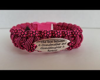 The Love Between a Grandmother and a Granddaughter is Forever Bracelet