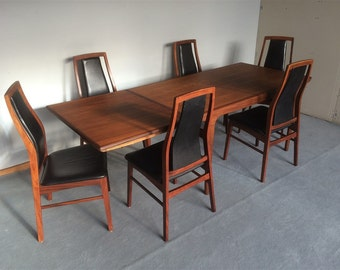 6 chairs in rio rosewood and leather