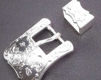 """Buckle and Keeper Set Silver for 3/4"""" Belts 3452-02"""