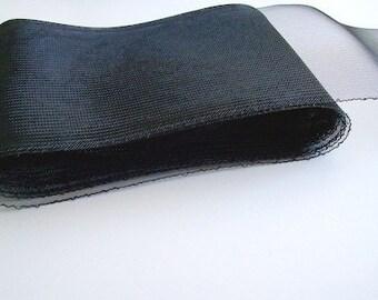 "crin black 6"" Crin black (crinoline horsehair braid) 6 inch (16cm)"