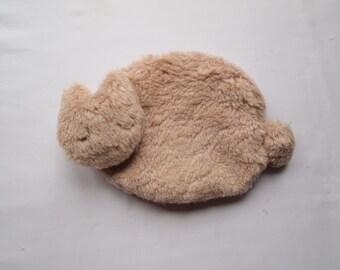 cat pouch. organic cotton fur