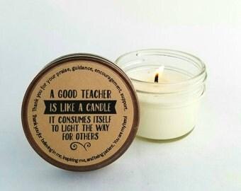 Teachers gift|end of year gift for teachers|teacher  appreciation gift|teachers Aid gift|small gift for teachers|teacher qoute|herbal candle