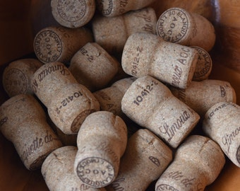 25 Used Blanquette de Limoux Champagne Corks   - All Natural Recycled Champagne Corks