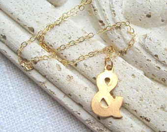 Ampersand Necklace, Ampersand, Brass Ampersand, Ampersand Charm, Ampersand Pendant, And Sign, Ampersand Jewelry, Brass Ampersand Necklace, &