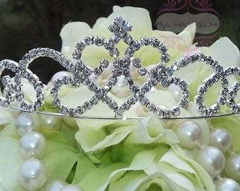 Bridal Tiara Crown CRYSTAL Rhinestones