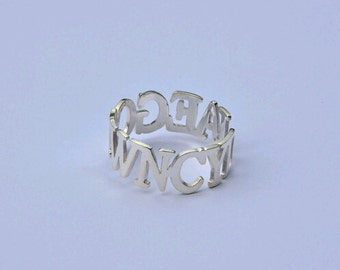 925 Sterling silver name ring Custom silver ring Any name available