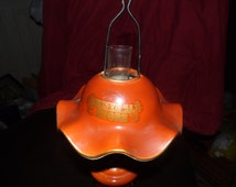 Unique Orange Lamp Shade Related Items Etsy