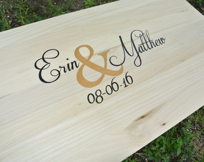 Wedding Guest book Wood Sign with Pen. Guestbook Alternative. Wood Signature Cocktail Sign.