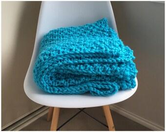 Handmade Knitted Blanket - Throw