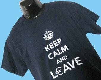 UK / European Union T Shirt - EU Exit - Brexit - EU Referendum Leave - Keep Calm
