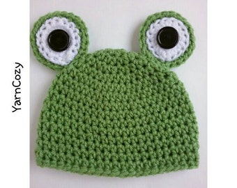 Baby Frog Hat, Woodland Baby Shower Gift, Newborn Photo Outfit, Forest Baby Shower, Crochet Frog Hat, Frog Baby Shower, Newborn Photo Prop