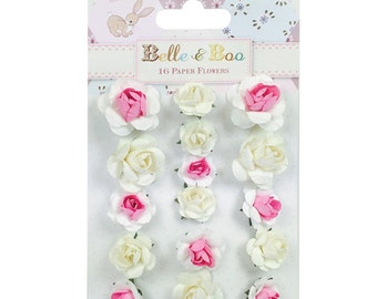 Belle & Boo II Paper Flowers, Paper Blossoms, Paper Roses, White Paper Flowers, Pink Paper Flowers, Cream Paper Flowers, White Paper Roses