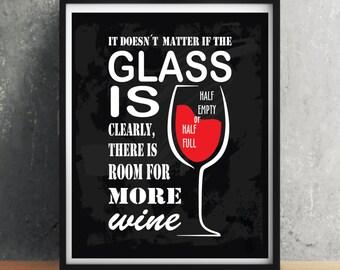 Wine quote poster, Wine quote art, Wine print, Wine decor, Wine funny quote, Wine cup, Wine, Kitchen decor, Kitchen wall art, Kitchen print
