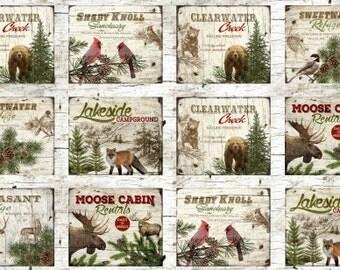 Henry Glass Moose Lodge Panel Fabric