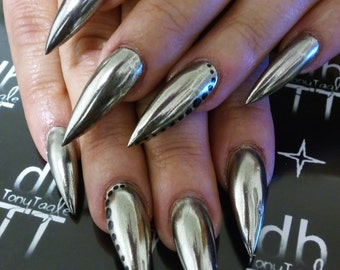 Chrome Mirror Dust / Mirror Effect Nails / Chrome Mirror Pigment / KIT AVAILABLE