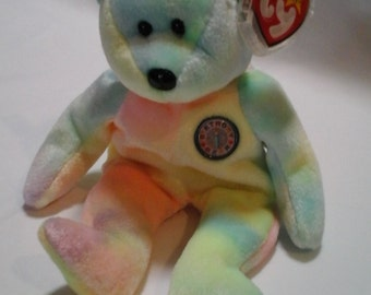 TY Beanie Baby BIRTHDAY BEAR