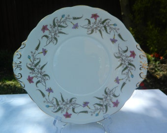 Royal Standard 'Fancy Free' Floral Design Round-Eared Cake Plate