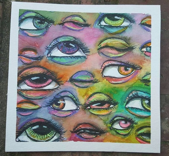 abstract neon eyes - photo #18