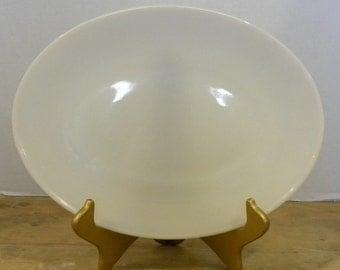 Vtg Fire King, Milk Glass Platter, Oven Ware, Made in USA