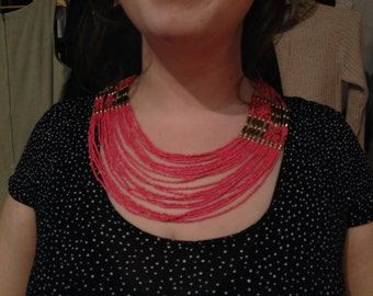 Coral Vintage 1970s Necklace