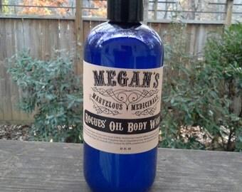 Rogue's Oil Body Wash, bath soap, liquid soap, shampoo, body wash, bubble bath, essential oil, natural fragrance