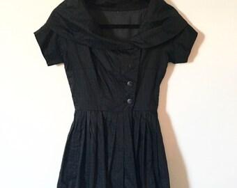 1960s Little Black Party Dress