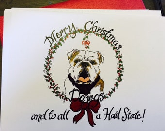 Mississippi State Christmas Notecards