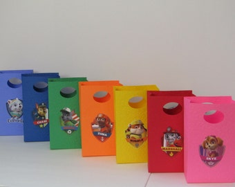 14 Paw Patrol Large Party Favor Bag-Candy Bag–Treat Bag–Gift Bag - Paw Patrol Boy/Girls Birthday Party Bag – Paw Patrol Classroom Favor Bag