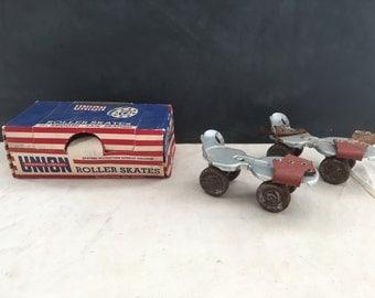 Vintage Child's Roller Skates - Home Decor - Display -  Metal Skates - Union Hardware