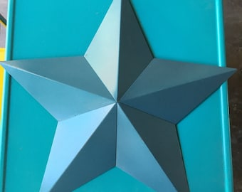 Turquoise Metal 3 D Star