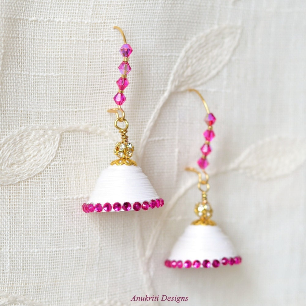 Jhumka Paper Earrings Indian jewelry Quilled Earrings