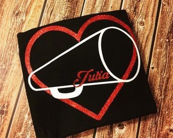 Heart with megaphone and name