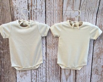Organic Baby Bodysuits, Set of 2, Matching Bodysuits, Short Sleeve Bodysuits, Gift Set, 0-3M Months, Natural Colors!