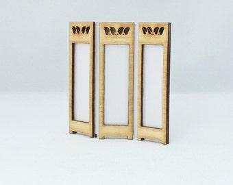 1:24th Modesty Screen Kit Leaf Design