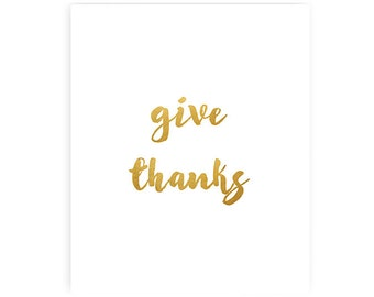 Give thanks - Art Print - 8x10 inches
